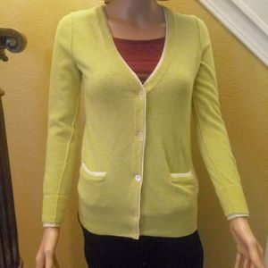 J. Crew wool eggshell yellow long sleeves sweater